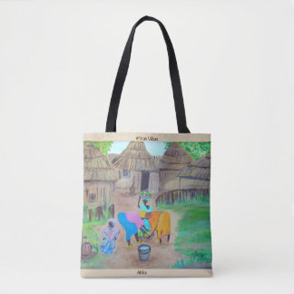 The Village Life, All-Over-Print-Tote Bag