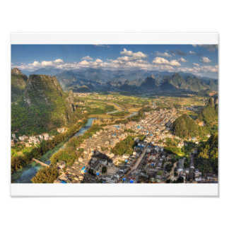 the village of xingping photo print