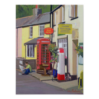 The Village Post Office Withypool Poster