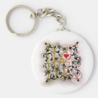 The Vines of Love Basic Round Button Key Ring