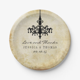The Vintage Chandelier Wedding Collection 7 Inch Paper Plate