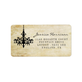 The Vintage Chandelier Wedding Collection Address Label