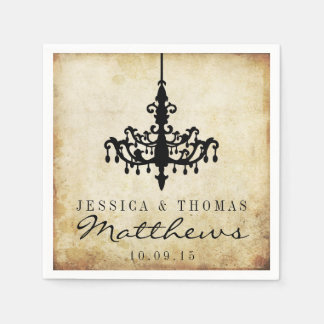 The Vintage Chandelier Wedding Collection Disposable Napkin
