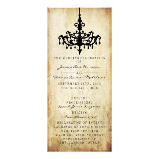 The Vintage Chandelier Wedding Collection Rack Card Design