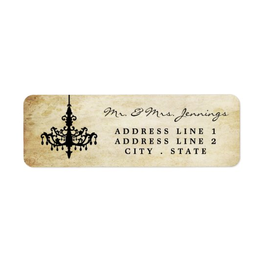 The Vintage Chandelier Wedding Collection Return Address Label