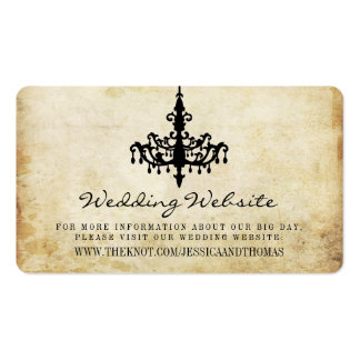 The Vintage Chandelier Wedding Collection Website Pack Of Standard Business Cards