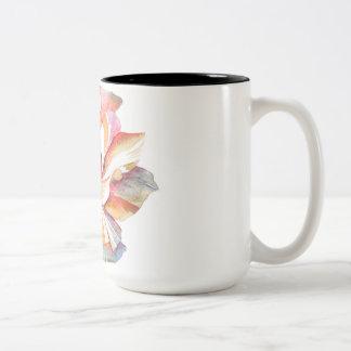 The Vintage Flower of Serenity -Light Edition Two-Tone Coffee Mug