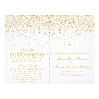 The Vintage Glam Gold Confetti Wedding Collection 21.5 Cm X 28 Cm Flyer