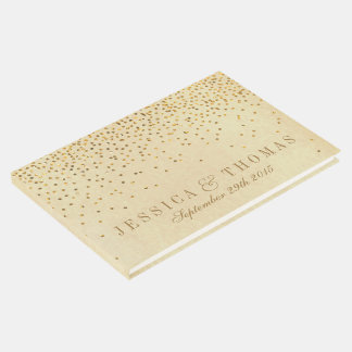 The Vintage Glam Gold Confetti Wedding Collection Guest Book