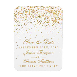 The Vintage Glam Gold Confetti Wedding Collection Magnet