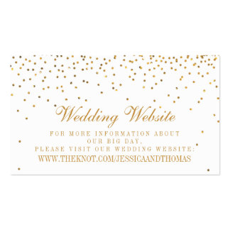 The Vintage Glam Gold Confetti Wedding Collection Pack Of Standard Business Cards