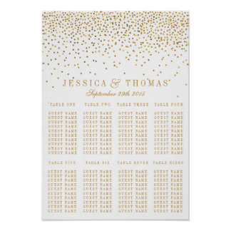 The Vintage Glam Gold Confetti Wedding Collection Poster