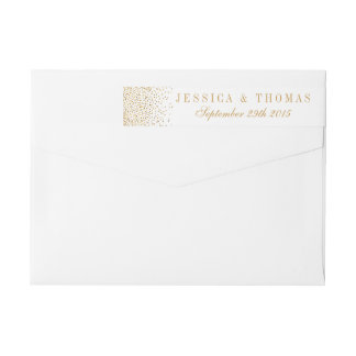 The Vintage Glam Gold Confetti Wedding Collection Wraparound Return Address Label