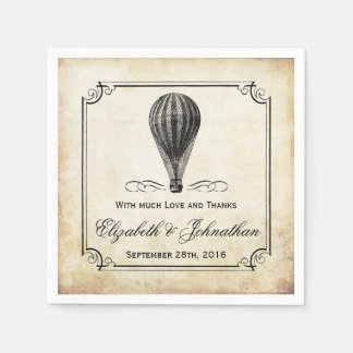 The Vintage Hot Air Balloon Wedding Collection Disposable Serviette