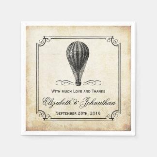 The Vintage Hot Air Balloon Wedding Collection Paper Napkin