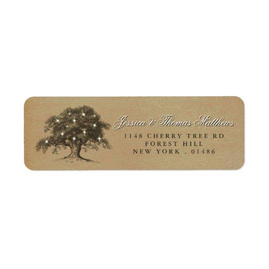 The Vintage Old Oak Tree Wedding Collection Return Address Label