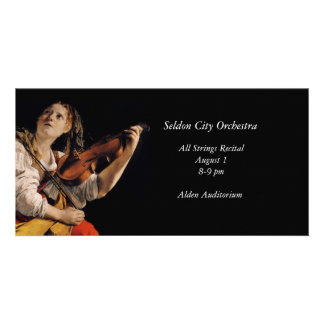 The Violin Player Photo Card