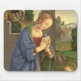The Virgin Adoring the Child, 1490-1500 Mouse Pad