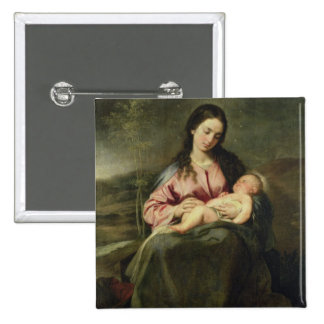 The Virgin and Child 15 Cm Square Badge