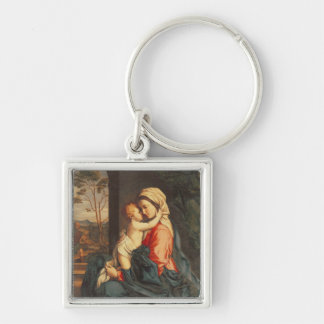 The Virgin and Child Embracing Key Chain