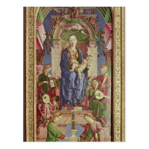 The Virgin and Child Enthroned, mid 1470s Postcard