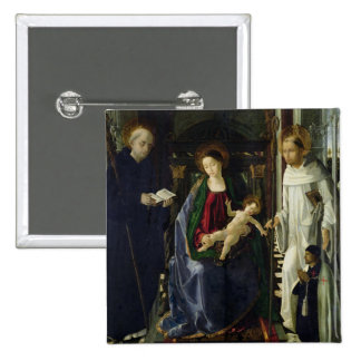 The Virgin and Child (oil) Pinback Buttons