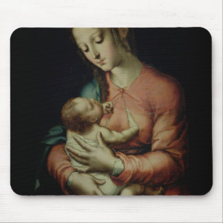 The Virgin and Child oil on panel Mouse Pad