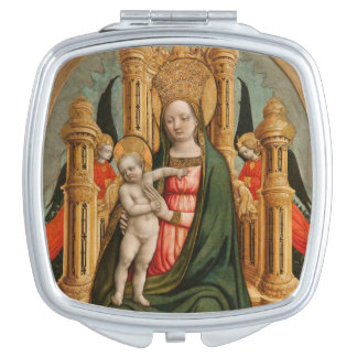 """""""The Virgin and Child"""" pocket mirror Travel Mirrors"""