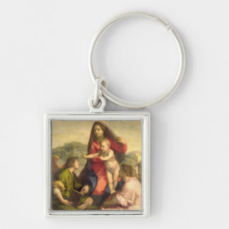 The Virgin and Child with a Saint and an Angel c Key Chain