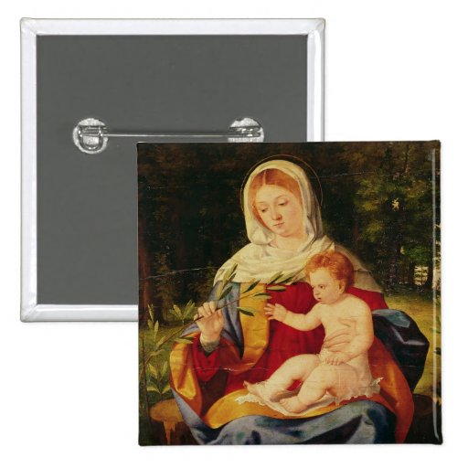 The Virgin and Child with a shoot of Olive Buttons