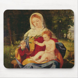 The Virgin and Child with a shoot of Olive Mouse Pad