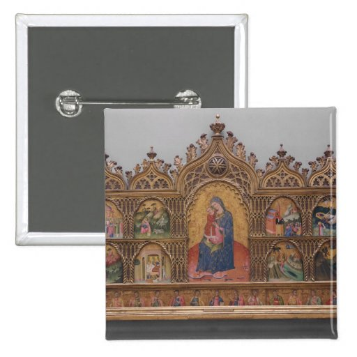 The Virgin and Child with Legendary Scenes Pins
