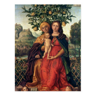 The Virgin and Child with St Anne, 1510-18 Postcard