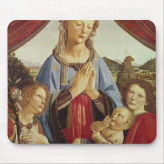 The Virgin and Child with Two Angels, c.1470's Mouse Pad