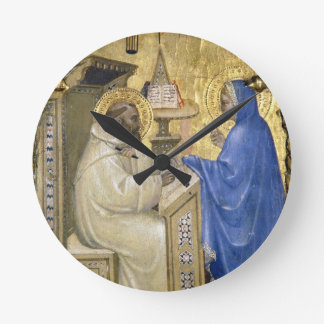 The Virgin appearing to St. Bernard, detail from a Round Wall Clocks
