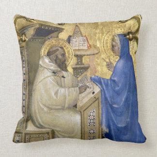 The Virgin appearing to St. Bernard, detail from a Pillows