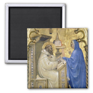 The Virgin appearing to St. Bernard, detail from a Square Magnet