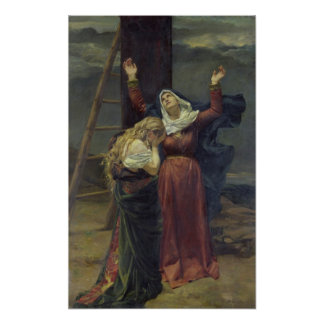 The Virgin at the Foot of the Cross Poster