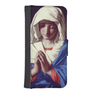 The Virgin in Prayer, 1640-50 (oil on canvas) Phone Wallets
