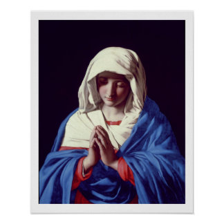 The Virgin in Prayer, 1640-50 (oil on canvas) Poster