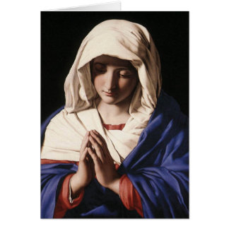 """The Virgin in Prayer"" by Sassoferrato (1640) Greeting Card"