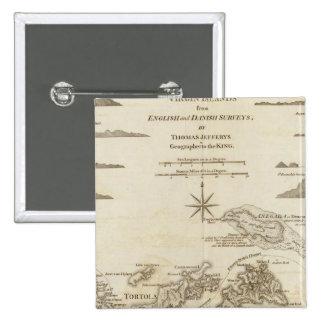 The Virgin Islands 15 Cm Square Badge