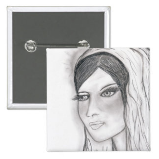 The Virgin Mary 15 Cm Square Badge