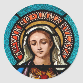The Virgin Mary Classic Round Sticker