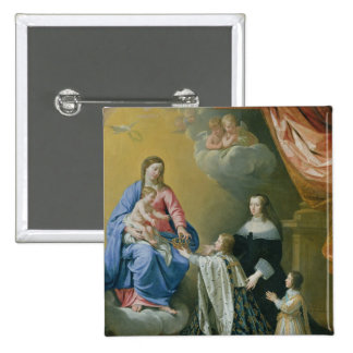 The Virgin Mary gives the Crown and Sceptre 15 Cm Square Badge