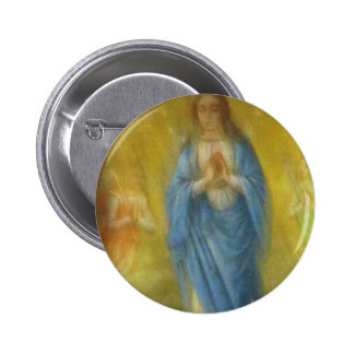 The Virgin Mary -   Medieval Period Pinback Buttons
