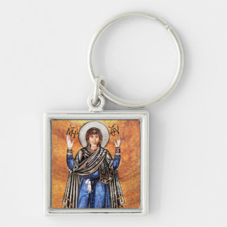The Virgin Mary Oran Silver-Colored Square Key Ring