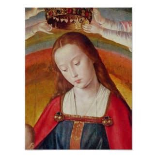 The Virgin Mary with her Crown Poster