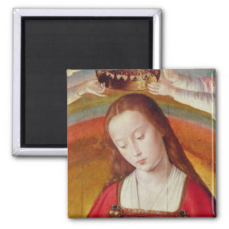 The Virgin Mary with her Crown Square Magnet