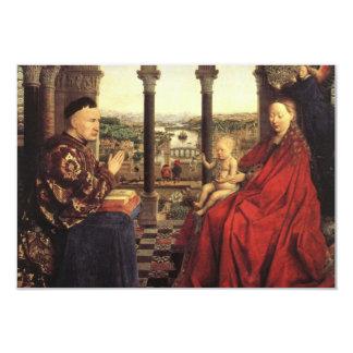 The Virgin of Chancellor Rolin by Jan van Eyck 9 Cm X 13 Cm Invitation Card